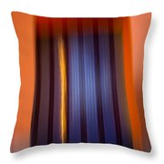 Blur City Throw Pillow