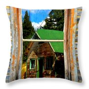 Blurring The Lines Throw Pillow