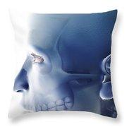 Bones Of The Face Throw Pillow