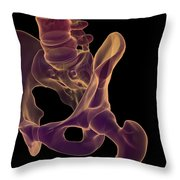 Bones Of The Hip Throw Pillow
