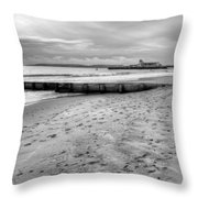 Bournemouth Beach Throw Pillow