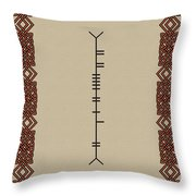 Boyle Written In Ogham Throw Pillow