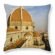 Brunelleschi's Dome At The Florence Cathedral  Throw Pillow