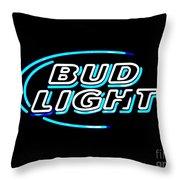 Bud Light Throw Pillow