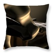 Bull And Bear Stock Market Statues Throw Pillow