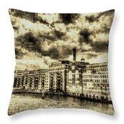 Butlers Wharf London Vintage Throw Pillow