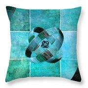 3 By 3 Ocean Rings Throw Pillow