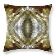 Cafe Au Lait Kaleidoscope Throw Pillow