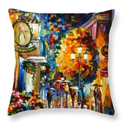 Cafe In The Old City Throw Pillow