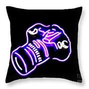 Camera Edited Throw Pillow