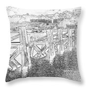 Cardiff Bay Throw Pillow