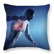 Cardiovascular Exercise Throw Pillow