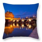 Castel Sant Angelo Throw Pillow by Brian Jannsen