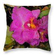 Cattleya Throw Pillow
