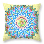 Colorful Signature Art Chakra Round Mandala By Navinjoshi At Fineartamerica.com Rare Fineart Images  Throw Pillow