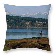 Chambers Bay Golf Course - University Place - Washington Throw Pillow