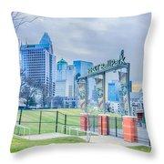 Charlotte Ballpark Throw Pillow
