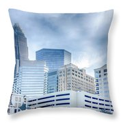 Charlotte Downtown  Throw Pillow