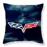 Chevrolet Corvette Emblem Throw Pillow