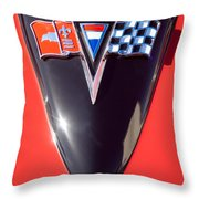 Chevrolet Corvette Hood Emblem Throw Pillow