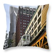 Chicago Loop 'l' Throw Pillow