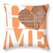 Chicago Street Map Home Heart - Chicago Illinois Road Map In A H Throw Pillow