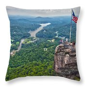 Chimney Rock At Lake Lure Throw Pillow