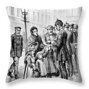 Cholera: Hamburg, 1892 Throw Pillow