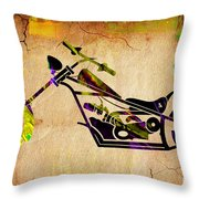 Chopper Art Throw Pillow