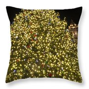 Christmas Tree Ornaments Faneuil Hall Tree Boston Throw Pillow