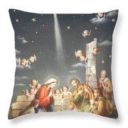Christmas Card Throw Pillow by French School