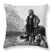 Christopher Columbus (1451-1506) Throw Pillow