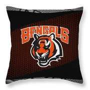 Cincinnati Bengals Throw Pillow by Joe Hamilton