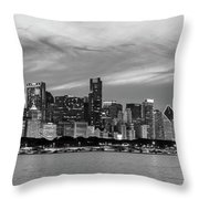 City At The Waterfront, Lake Michigan Throw Pillow