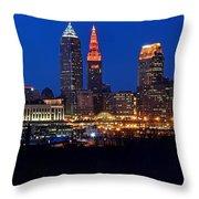 Cleveland Panorama Throw Pillow