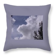 Clouds And Trees Throw Pillow