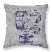 Collapsible Drum Patent 008 Throw Pillow
