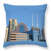 Colorful Chicago Throw Pillow