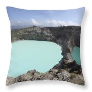 Colourful Crater Lakes Of Kelimutu Throw Pillow