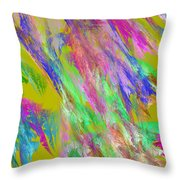 Computer Generated Abstract Fractal Flame Throw Pillow