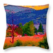 Cowichan Bay From Doman's Road Throw Pillow