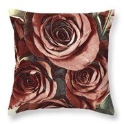 3 D Red Throw Pillow