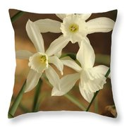 3 Daffodils Throw Pillow