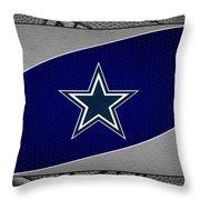 Dallas Cowboys Throw Pillow by Joe Hamilton