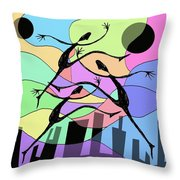 3 Dancers  Throw Pillow