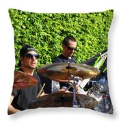 Dave Lombardo And Pancho Tomaselli Throw Pillow