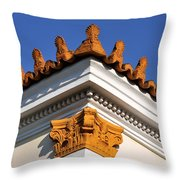 Decorative Roof Tiles In Plaka Throw Pillow