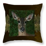 Deer Wild Animal Portrait For Wild Life Fan From Navinjoshi Costa Rica Collection Throw Pillow