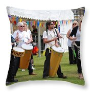 Dende Nation Samba Drum Troupe Throw Pillow