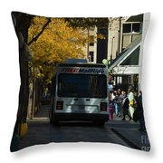 Denver City Scenes Throw Pillow